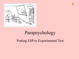 Parapsychology - Vista del Lago High School