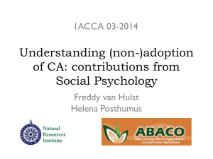 (non-)adoption of CA: contributions from Social Psychology