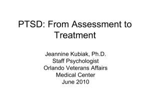 PTSD: From Assessment to Treatment
