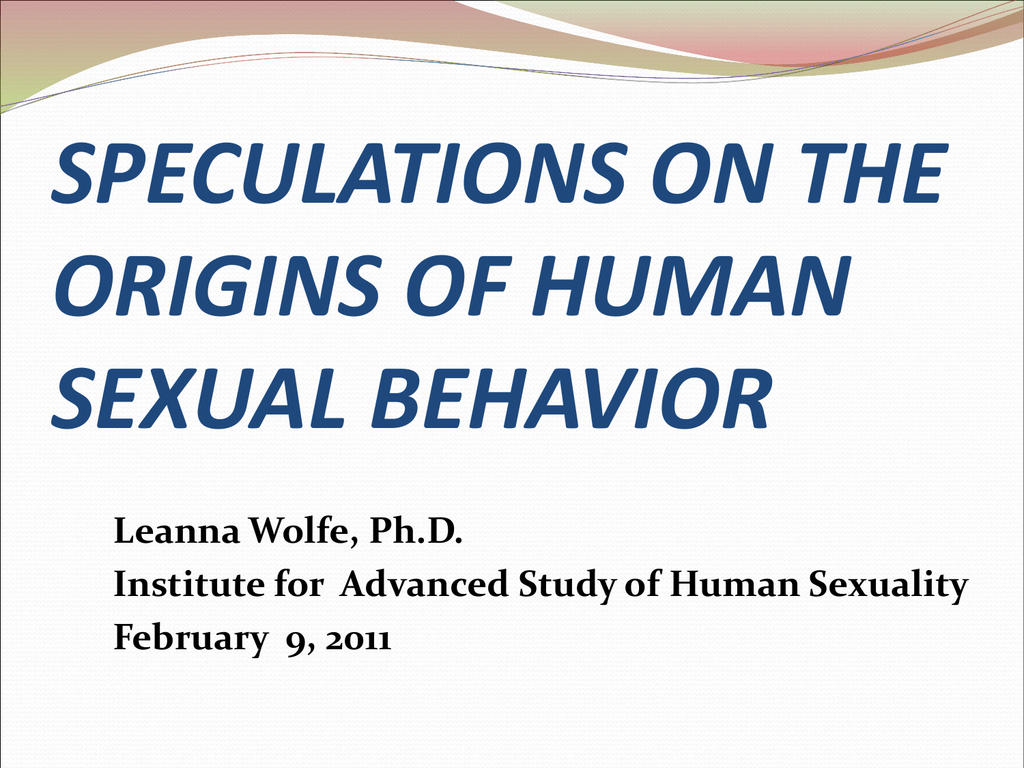 Institute of advanced studies of human sexuality