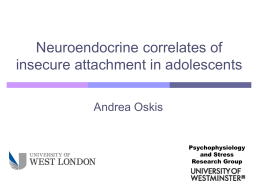 Neuroendocrine correlates of insecure attachment in