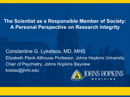 Presentation overview - Johns Hopkins Medicine