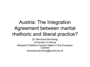 Austria: The Integration Agreement between symbolic policy and