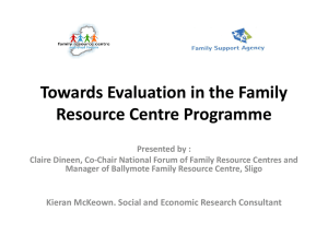 Towards Evaluation in Family Resource Centre Programmes