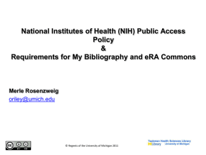 National Institutes of Health Public Access Policy
