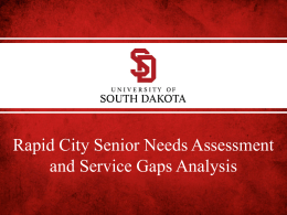Senior Needs and Gaps Analysis Presentation May 2013