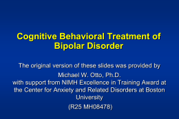 CBT for Bipolar - Anxiety Disorders Association of America
