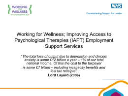 IAPT employment support services