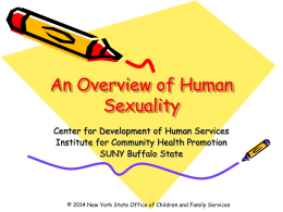 Human Sexuality () - Center for Development of Human Services
