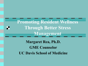 Promoting Stress management by residents