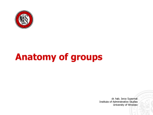 Anatomy of groups