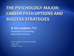 Career Options and Strategies for Success