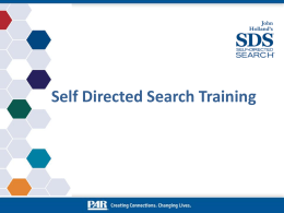 Self-Directed Search®, 5th Edition (SDS®)