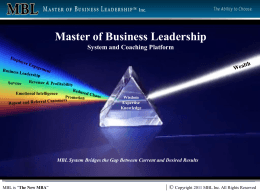 masters - Master of Business Leadership