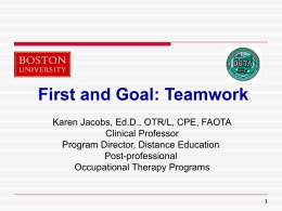 Interprofessional education & collaborative practice