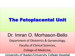 The Fetoplacental Unit