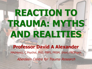 Myths and Realities, Professor David Alexander
