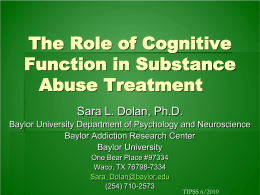Alcohol and Cognition - The Association of Substance Abuse