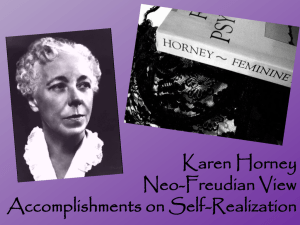 Karen Horney and her Neo-Freudian View