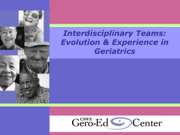 Interdisciplinary Teamwork - PowerPoint Slides
