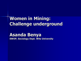 Women in Mining (WIM) Background