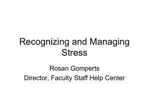 Stress in the Workplace 09/21/11