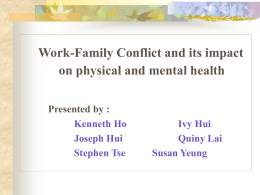 Model of Work-Family Conflict in Contemporary China