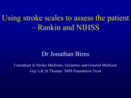 If I had a stroke…. - the HIEC Stroke Events Website