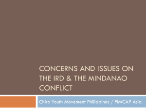 Concerns and issues on ird & the mindanao conflict