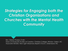 Strategies for engaging both Christian organizations and