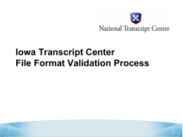 ITC File Format Validation Process