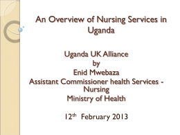 An Overview of Nursing Services in Uganda