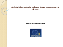 An insight into potential male and female entrepreneurs in