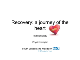 Recovery - The Chartered Society of Physiotherapy