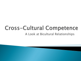 Cross Cultural Competence - A Look at Bicultural Relationships