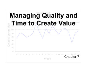 Chapter 7 - Managing Quality