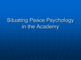 IB.Academic Context - Society for the Study of Peace, Conflict