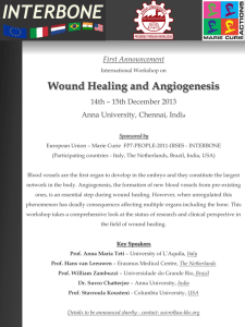 Wound Healing and Angiogenesis - AU