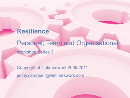 Resilience - NHS Education for Scotland