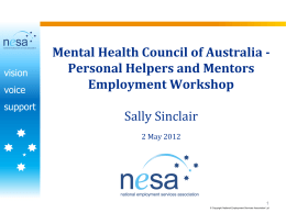 NESA presentation - Mental Health Australia