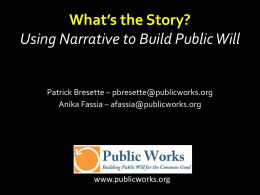 Session III PowerPoint–Narrative and Storytelling