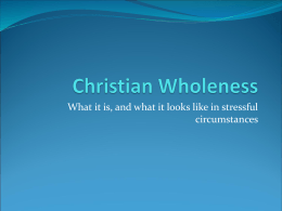 Christian Wholeness