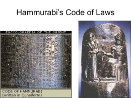 Hammurabi`s Code of Laws