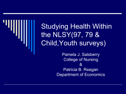 Studying Health Within the NLSY