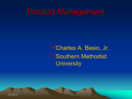 Product Management - Southern Methodist University