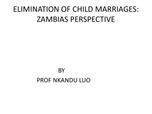 Elimination of Child Marriage
