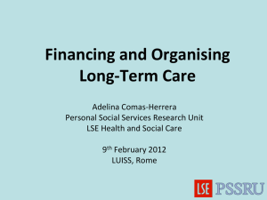 Financing and Organising Long-Term Care