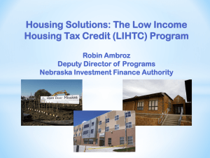 The Low Income Housing Tax Credit (LIHTC) Program