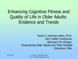 Foundations of cognitive fitness