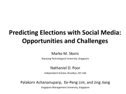 Tweets and Votes: A Study of the 2011 Singapore General Election